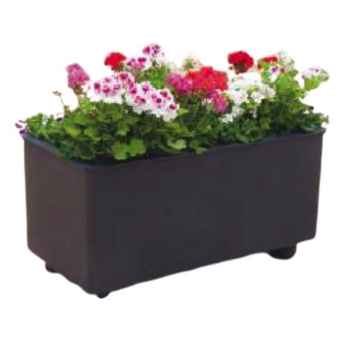 jardinera metálica rectangular de sergin