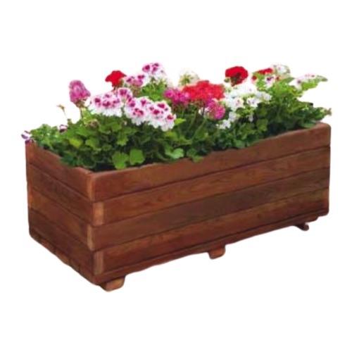 jardinera de madera rectangular de sergin